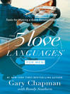5 Love Languages for Men (eBook): Tools for Making a Good Relationship Great