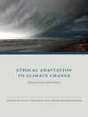 Ethical Adaptation to Climate Change (eBook): Human Virtues of the Future