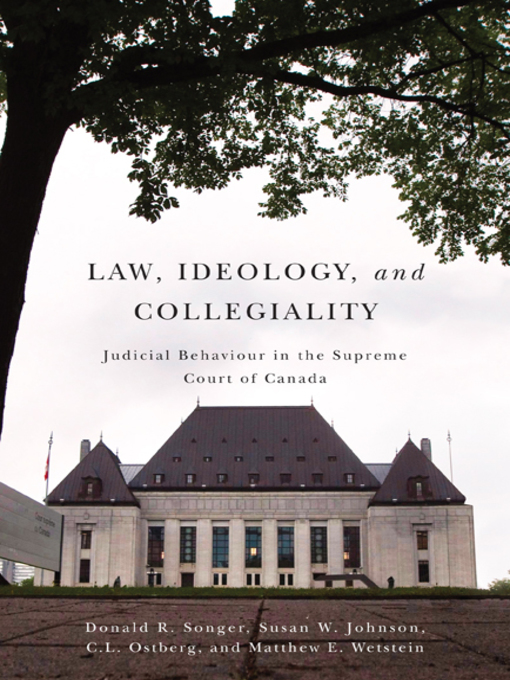 Law, Ideology, and Collegiality eBook