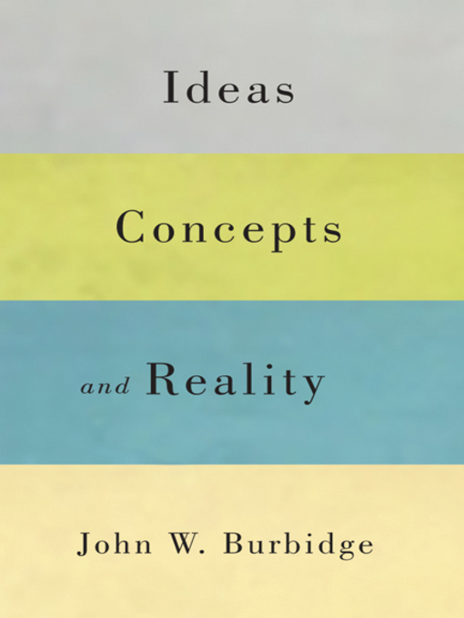 Ideas, Concepts, and Reality (eBook)