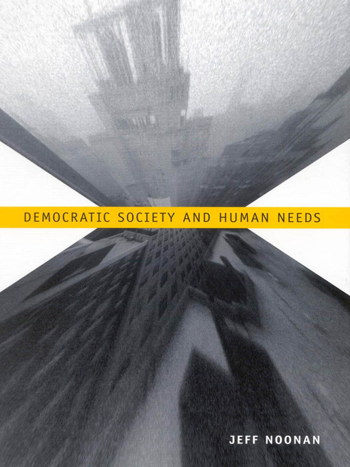 Democratic Society and Human Needs (eBook)