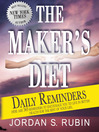 The Maker's Diet Daily Reminders (eBook)
