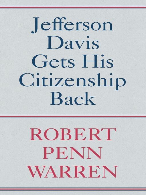 Jefferson Davis Gets His Citizenship Back (eBook)