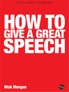 How to Give a Great Speech (eBook)