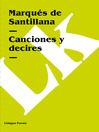 Canciones y decires (eBook)
