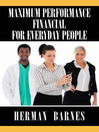 Maximum Performance Financial for Everyday People (eBook)
