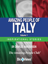 Amazing People of Italy - Volume 1 (MP3): Inspirational Stories