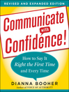 Communicate with Confidence (eBook): How to Say it Right the First Time and Every Time