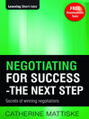 Negotiating for Success – The Next Step (eBook)