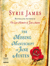 The Missing Manuscript of Jane Austen (MP3)