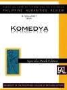 Philippine Humanities Review (eBook): Komedya