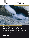 Les obligations de vigilance des États parties à la Convention européenne des droits de l'homme (eBook)
