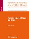 Principes généraux du droit (eBook)