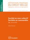 Sociétés en nom collectif et sociétés en commandite (eBook)