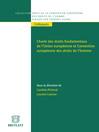 Charte des droits fondamentaux de l'Union européenne et Convention européenne des droits de l'homme (eBook)