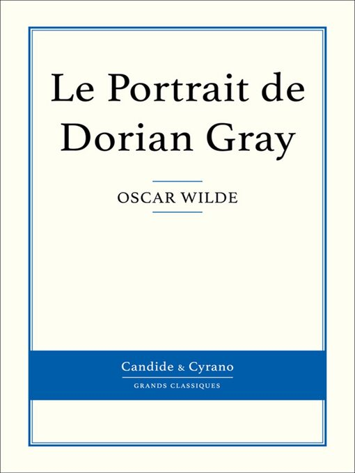 Le Portrait de Dorian Gray (eBook)