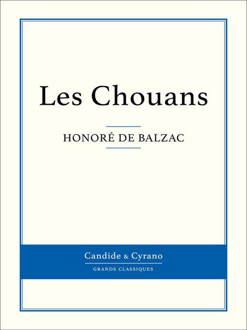 Les Chouans (eBook)