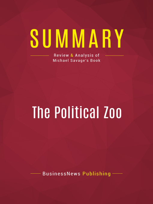 Summary of the Political Zoo--Michael Savage (eBook)