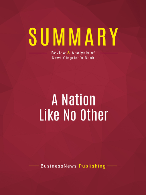 Summary of a Nation like no other (eBook): Why American Exceptionalism Matters