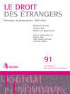 Droit des étrangers (eBook): Chronique de jurisprudence 2007-2010