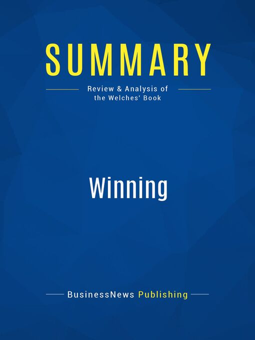 Summary (eBook): Winning--Jack Welch and Suzy Welch