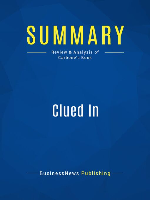 Summary (eBook): Clued In--Lewis Carbone