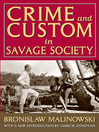 Crime and Custom in Savage Society (eBook)