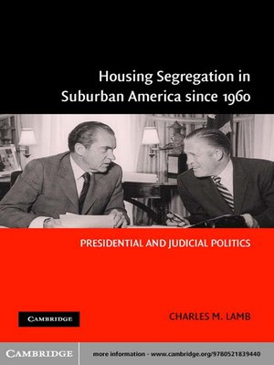 Click this cover for a(n) eBook sample of Housing Segregation in Suburban America since 1960