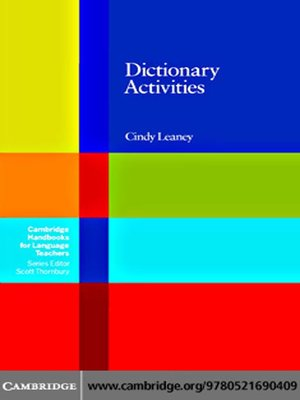Click this cover for a(n) eBook sample of Dictionary Activities.