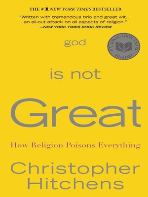 Click this cover for a(n) eBook sample of God Is Not Great