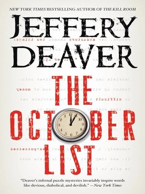Click this cover for a(n) eBook sample of The October List
