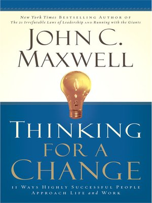 Click this cover for a(n) eBook sample of Thinking for a Change