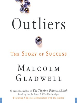 Click this cover for a(n) Audiobook sample of Outliers.
