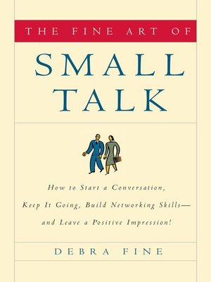 Click this cover for a(n) eBook sample of The Fine Art of Small Talk