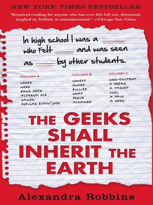 Cover of The Geeks Shall Inherit the Earth