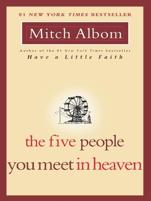 Click this cover for a(n) eBook sample of The Five People You Meet in Heaven.