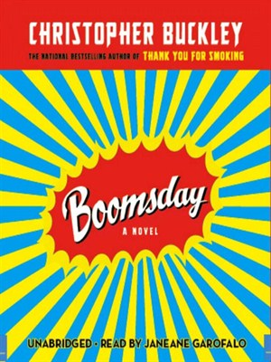 Click this cover for a(n) Audiobook sample of Boomsday.