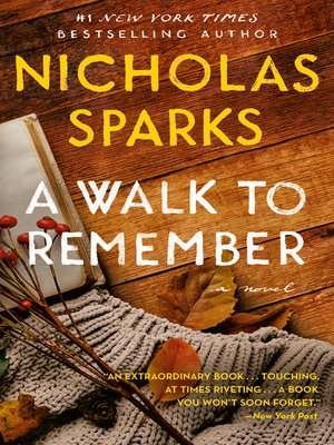 Click this cover for a(n) eBook sample of A Walk to Remember