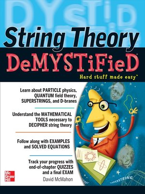 Click this cover for a(n) eBook sample of String Theory Demystified