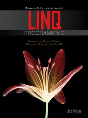 Click this cover for a(n) eBook sample of LINQ Programming