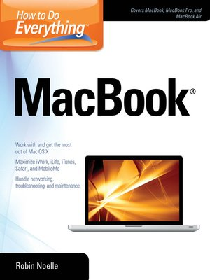 Click this cover for a(n) eBook sample of How to Do Everything MacBook.