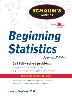 Click this cover for a(n) eBook sample of Beginning Statistics