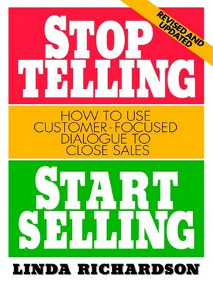 Click this cover for a(n) eBook sample of Stop Telling, Start Selling.