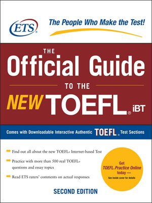 Click this cover for a(n) eBook sample of The Official Guide to the New TOEFL iBT