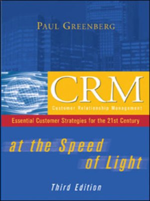 Click this cover for a(n) eBook sample of CRM at the Speed of Light