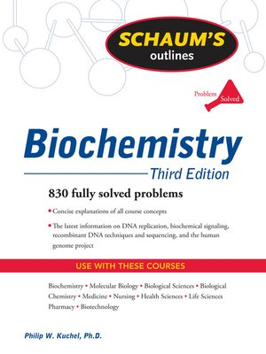 Click this cover for a(n) eBook sample of Biochemistry.