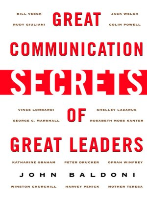 Click this cover for a(n) eBook sample of Great Communication Secrets of Great Leaders