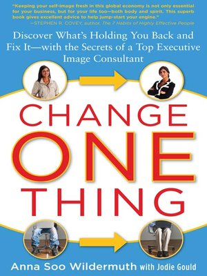 Click this cover for a(n) eBook sample of Change One Thing