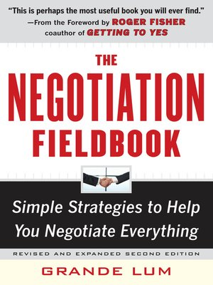 Click this cover for a(n) eBook sample of The Negotiation Fieldbook