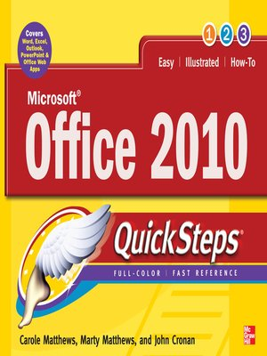 Click this cover for a(n) eBook sample of Microsoft® Office 2010 QuickSteps.